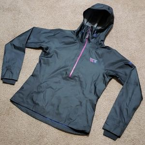 Mountain Hard Wear Gray Dry.Q Elite Rain Wind Coat